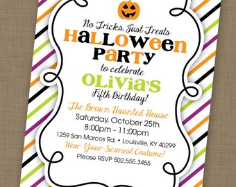 PRINTABLE Halloween Birthday Party Invitation