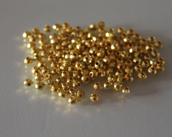 200 beads faceted gold - gold 4 mm - jewelry - Bohemian