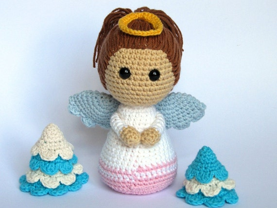 Amigurumi Crochet Books : Little angel amigurumi crochet pattern pdf e book stuffed