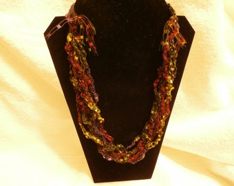 Hand Crocheted Trellis Necklace #22