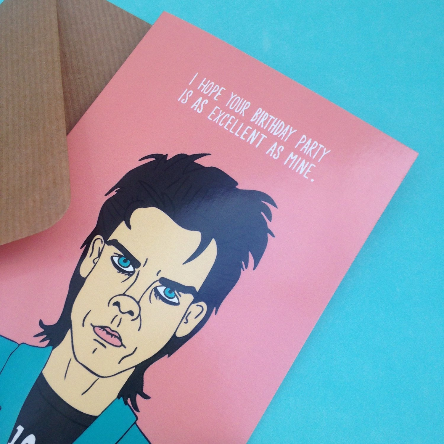 Nick cave birthday party greetings card from full colour zoom kristyandbryce Choice Image