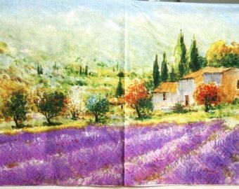 decoupage paper napkins Decoupage paper Napkin for decoupage Lavender Provence Violet
