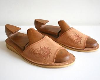 Polish Leather Sunflower Sandals 41
