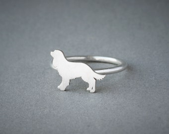 Cavalier KING CHARLES Spaniel RING / King Charles Ring / Silver Dog Ring / Dog Breed Ring / Silver, Gold Plated or Rose Plated.