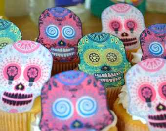 The Original Edible Skeletons - 1 doz Wafer Skulls - Cake & Cupcake toppers - Food Accessories
