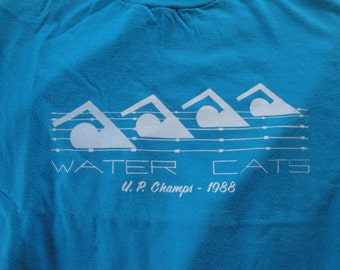 Vintage Water Cats 1988 Swimmer Tshirt