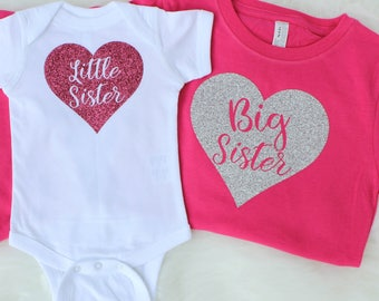 Sister Outfits for Pictures - Big Sister Little Sister Outfit - Big Sister Shirt - Little Sister Shirt - Sisters Shirt - Sister Announcement