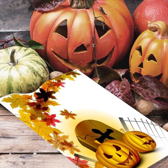 Pumpkins & Leaves Halloween Book of Shadows Page