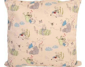 Handmade Beatrix Potter Peter Rabbit Cushions with Fillers Various Sizes 28cm , 36cm, 43cm , 60cm