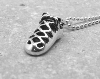 Irish Dance Necklace, Irish Dance Jewelry, Irish Dance Shoe, Irish Dance Soft Shoe, Sterling Silver Jewelry, Irish Dance, Charm Necklace