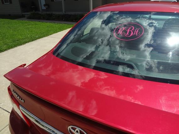 Big Inch Initial Monogram Decal Sticker Rear Window Decal - Monogram decal for car window