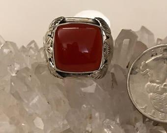 Carnelian Ring Size 6 1/2