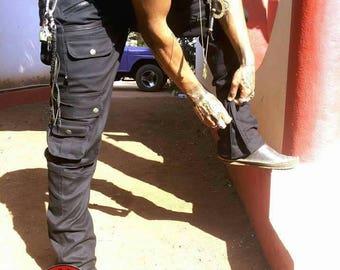 Saw- Men's cargo trousers, biker trousers, steampunk, psytrance goa pants