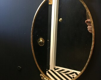 Vintage, Gold, Rose, Detail, Mirror, Tray