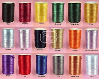 RAFFIA WRAPHIA RIBBON Pearlized Rayon 12 Yard Bundle - 36 Feet 1/4 Inch 18 Colors You Choose Color