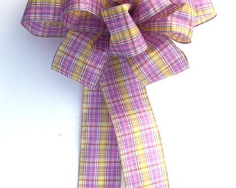 Easter plaid bow for wreaths, party decor, Easter decoration, home decor