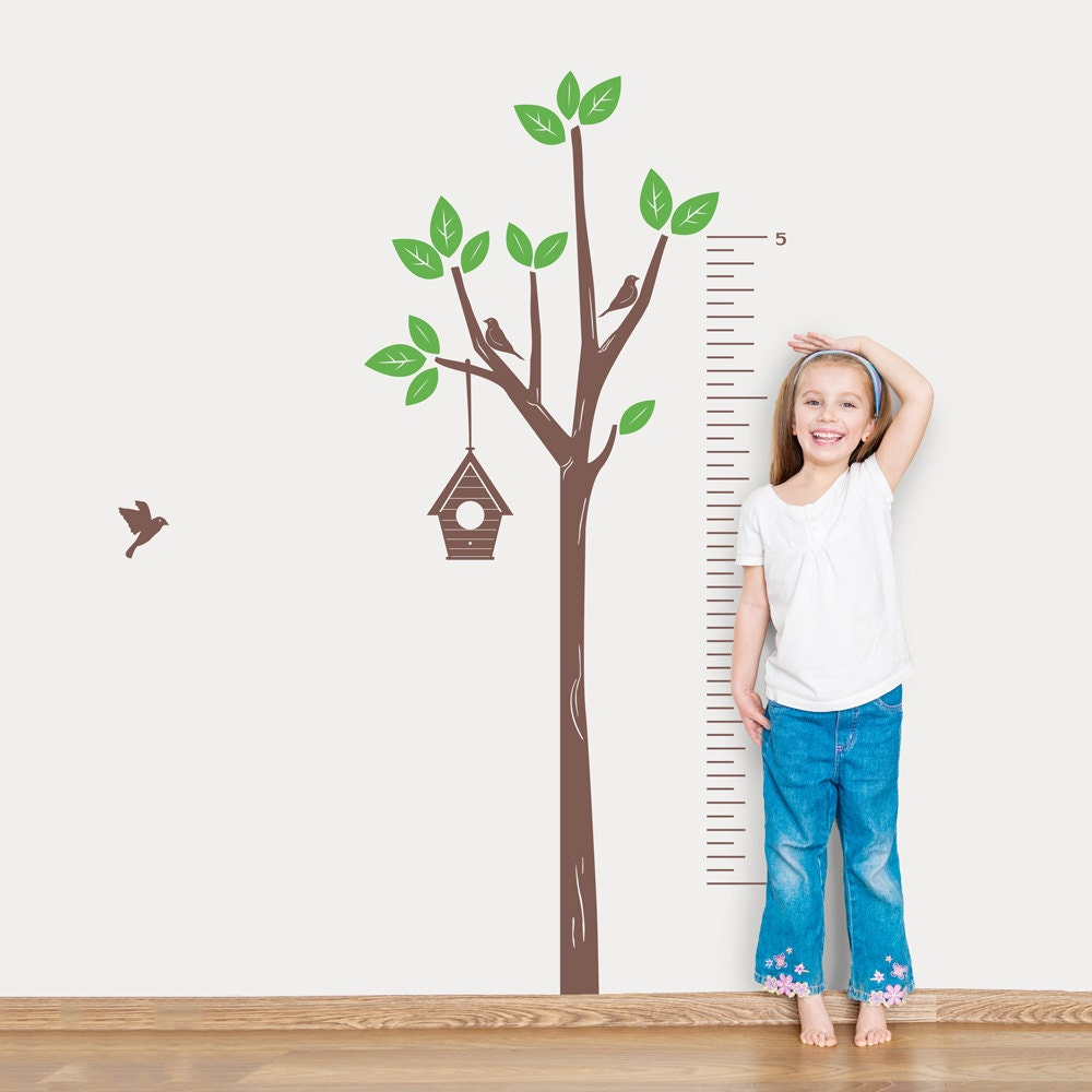 Tree growth chart wall decal tree wall sticker nature wall zoom geenschuldenfo Image collections