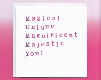 Magical Mummy Card, Mummy Birthday Card, Mother's Day Card, Birthday Card Mother, Mum Birthday Card, Birthday Card for Mummy