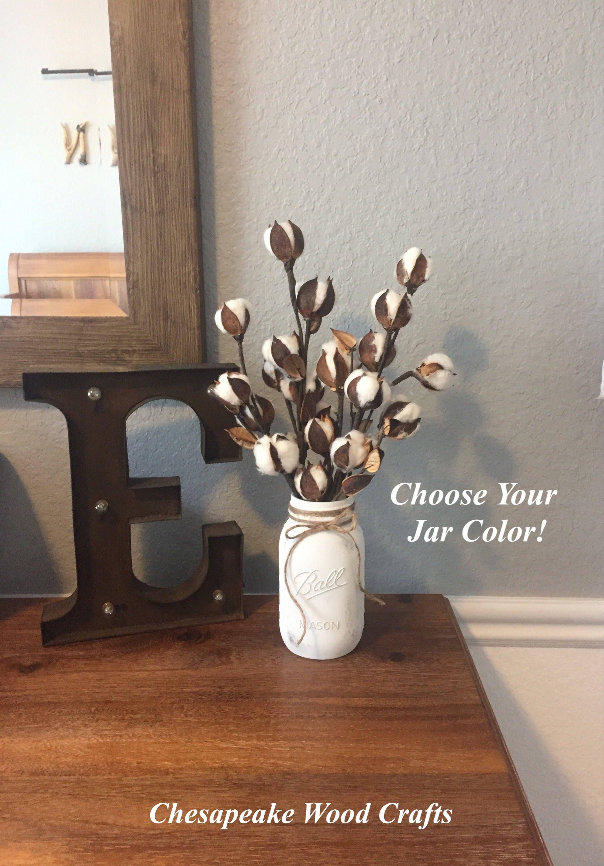 Cotton stems rustic home decor cotton boll arrangement zoom reviewsmspy