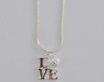 volleyball love charm necklace