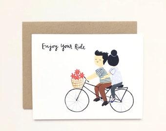 Enjoy Your Ride - Wedding Card, Anniversary Card, Love Card