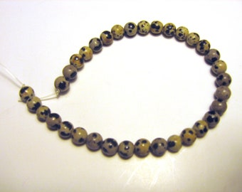 "8"" Strand 5mm Round Natural Dalmatian Jasper Beads - Brand New Gemstone Beads!"