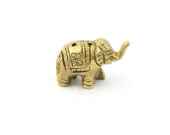 Small Brass Elephant Incense Holder Statue, Spiritual, Deity Statue, Meditation Statue, Home Decor, Alter Ornament