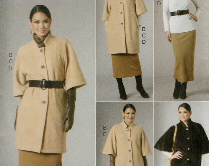 Free Us Ship Sewing Pattern Vogue 8678 Five Easy Pieces Dress Duster Jacket Pants Skirt Size 8 10 12 14  Bust 31 32 34 36  Uncut 2010