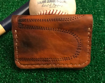 Vintage MacGregor catchers glove wallet Minimalist baseball wallet