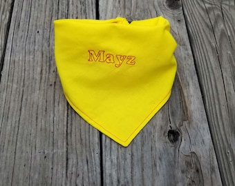 personalized Yellow Dog Bandana, Yellow Dog Bandana, Dog Bandana, Tie Dog Bandana