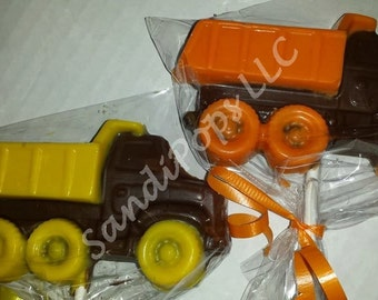 24 Dump Truck Construction Birthday Party Favor Lollipops