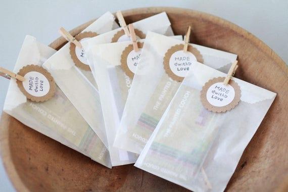 "Glassine Bags w/ side gusset- Set of 100  | Width 3"" x 1 1/2"" x 6 3/4"" | Wedding Favor Bags, Treat Bags"