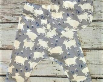 Organic baby clothes, Gray Sheep Joggers, Baby Harem Pants, Bandana Bib, Baby leggings, Baby Shower gift, New Mom Gift, Coming Home Outfit