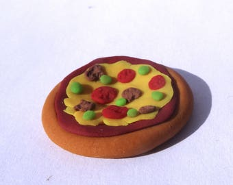 Miniature Polymer Clay Pizza