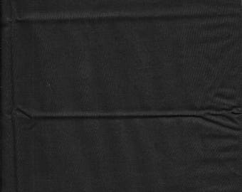 "New Black Solid 100% Cotton Fabric 18"" x 31"" Piece"