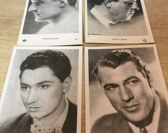Set of 4 pictures of film Stars from the 30s