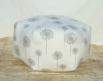 Floor pouf, dandelion Fabric foot stool, 24 inch ottoman, pillow  floor cushion