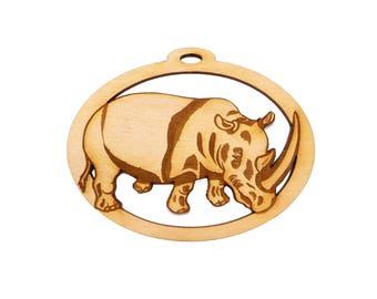 Rhinoceros Ornament - Rhinoceros Christmas Ornament - Rhino Ornament - Rhino Christmas Ornament - Rhino Gifts - Personalized Free