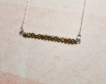 Champagne bubbles Czech glass celebrate necklace. Super sparkly FREE SHIPPING