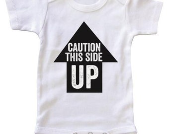 Caution This Side Up Baby Onesie