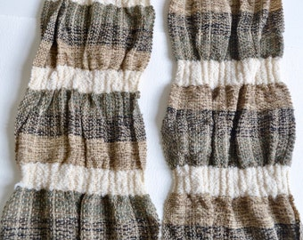 Handwoven Tussah Silk and Wool Natural Dyed Scarf