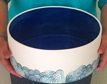 """12"""" x 6"""" handmade ceramic planter"""