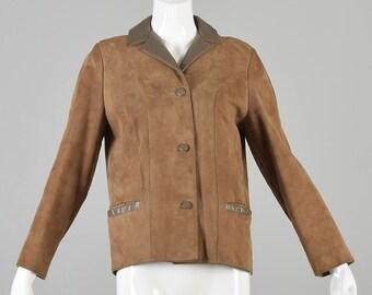 Small Bohemian Jacket 1970s Suede Jacket VintageLeather Hippie Jacket Boxy Boyfriend Jacket Vintage Outerwear