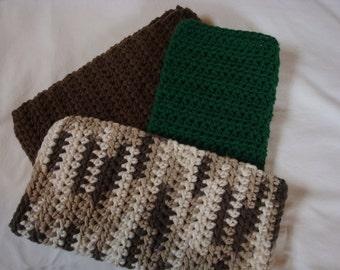 Dishcloths Cotton Crochet Washcloths Pot Holder Hot Pad Pack of 3