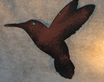 Hummingbird in Flight- Metal Wall Decor- Suitable for Indoors or outdoors