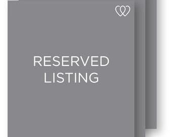 Reserved Listing for kelkel330 -