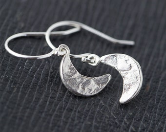 Moon Jewelry Earrings, Sterling Silver Earrings, Moon Phase, Crescent Moon Earrings, Gift for Women, Silver Jewelry, Gifts for Mom