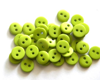 20 Small Green Buttons