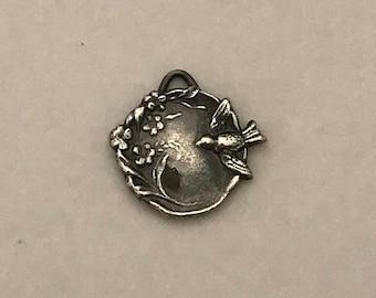 Handmade Silver Sparrow Pendant