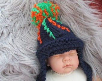 Bonfire Hat, Hand Knitting Pattern